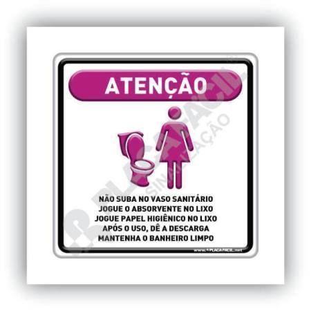 Placa de Sinalização Não Suba no Vaso Sanitário