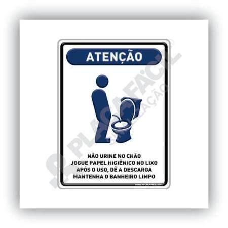 Placa De Sinalização não Urine No Chão