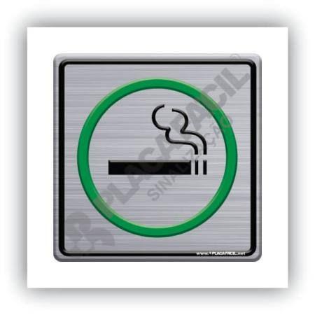 Placa de Sinalização Permitido Fumar