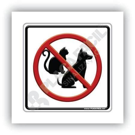 placas de proibição de animais