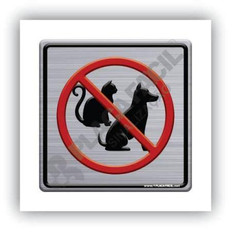 Placa de Sinalização Proibido Animais