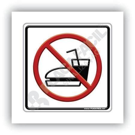 Placa PPlaca proibido Comer e Beber Neste Locallaca de Sinalização Proibido Comer e Beberde Sinalização Proibido Comer e Beber