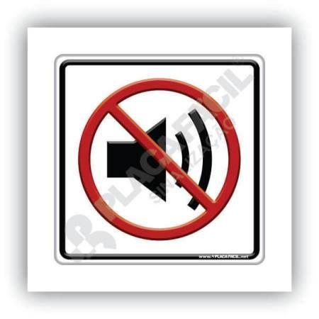 Placa de Sinalização Proibido Som Alto