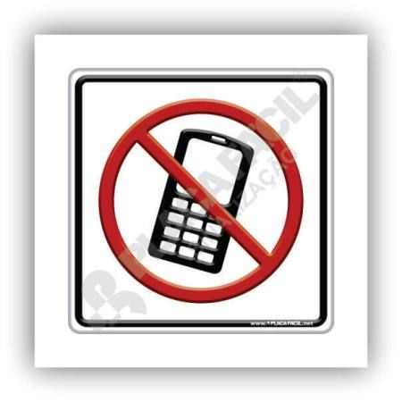 Placa de Sinalização Proibido Uso Celular