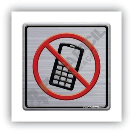 Placa de Sinalização Proibido Uso de Celular
