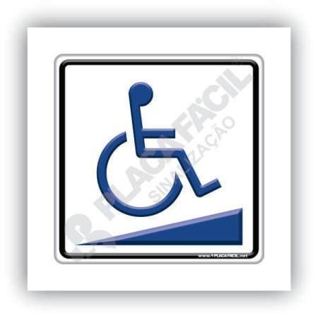 Placa de acessibilidade Rampa para deficientes