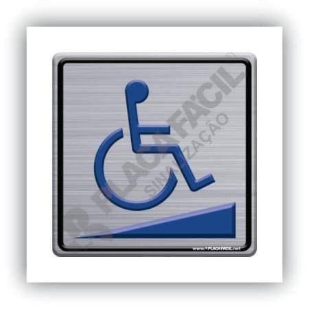 Placa de Sinalização Rampa para Cadeirante