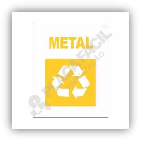 Placa De Sinalização Reciclagem De Metal