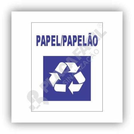Placa De Sinalização Reciclagem De Papel Papelão