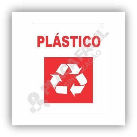 Placa De Sinalização Reciclagem De Plástico