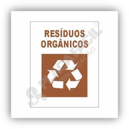 Placa De Sinalização Reciclagem De Resíduos Orgânicos