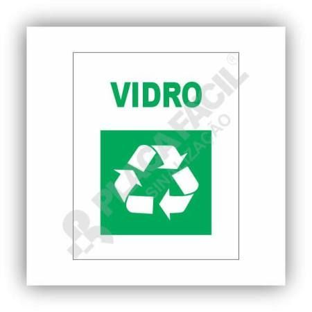 Placa De Sinalização Reciclagem De Vidros