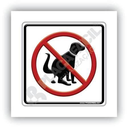 Placa Informativa Recolha as Fezes de Seu Cão