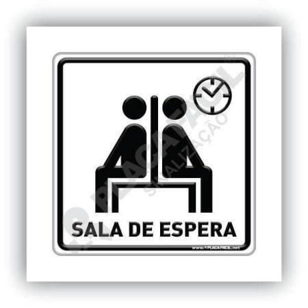 Placa de Sinalização Sala de Espera