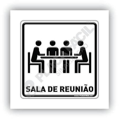 Placa de Sinalização Sala de Reunião