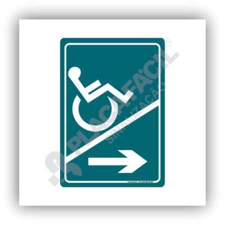 Placa De Sinalização Acesso Cadeirante