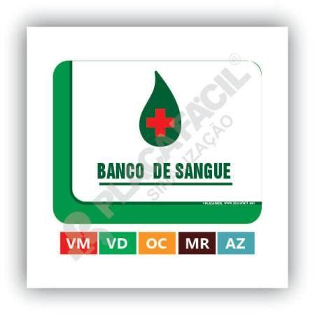 Placa De Sinalização Banco De Sangue