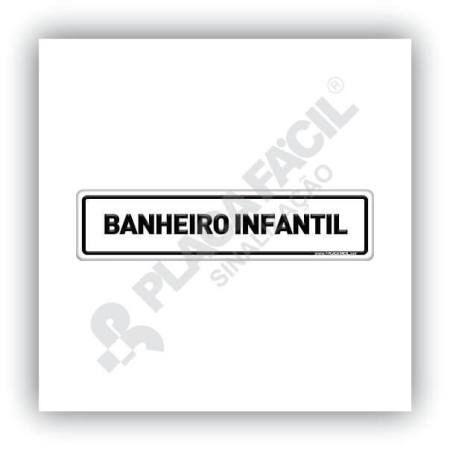 Placa De Sinalização Banheiro Infantil