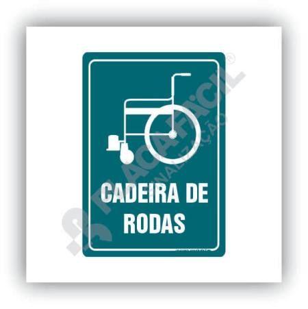 Placa De Sinalização Cadeira De Rodas