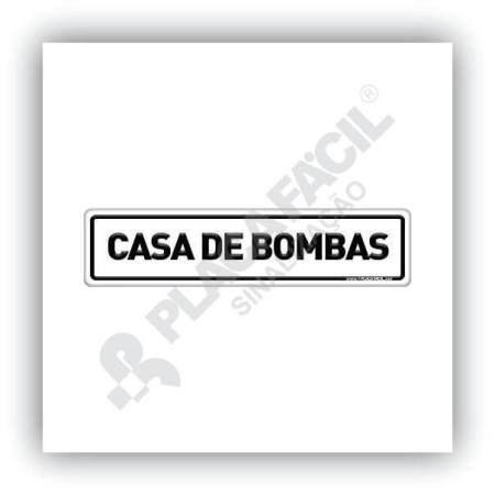 Placa De Sinalização Casa De Bombas