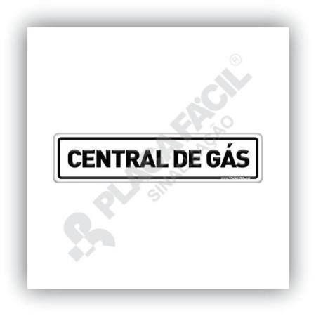 Placa De Sinalização Central De Gás