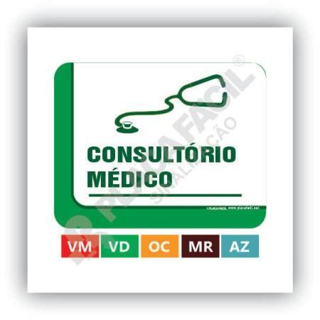 Placa De Sinalização Consultório Médico