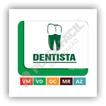 Placa De Sinalização Dentista
