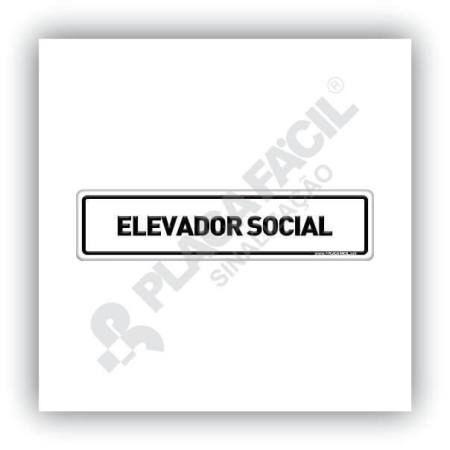 Placa De Sinalização Elevador Social