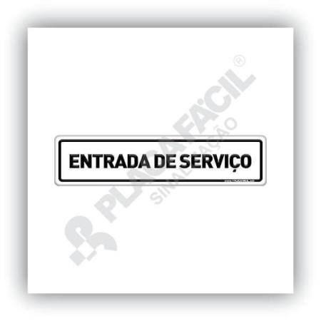 Placa De Sinalização Entrada De Serviço