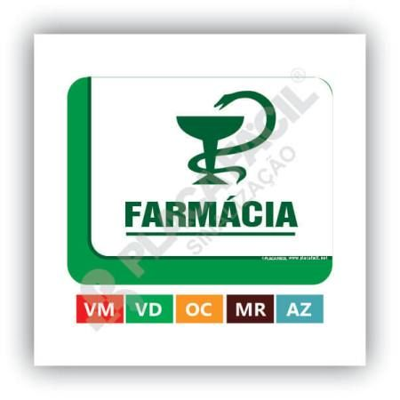 Placa De Sinalização FarmáciaPlaca De Sinalização Farmácia