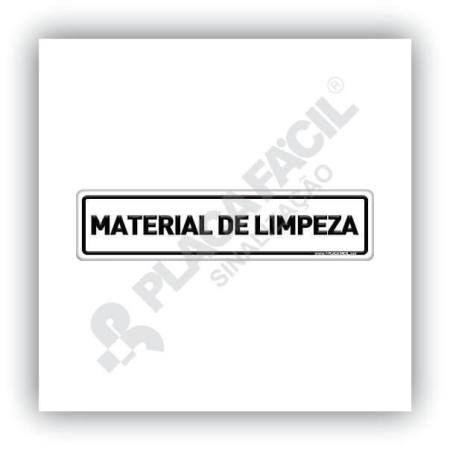 Placa De Sinalização Material De Limpeza
