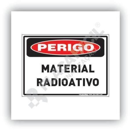 Placa De Sinalização Material Radioativo