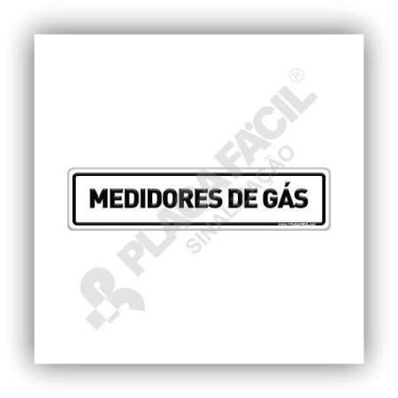 Placa De Sinalização Medidores De Gás