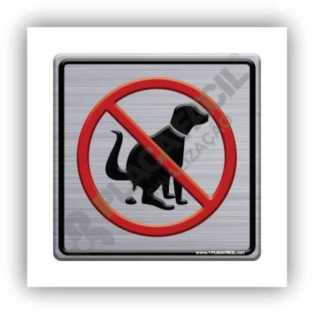 Placa de Sinalização Proibido Cães Defecar