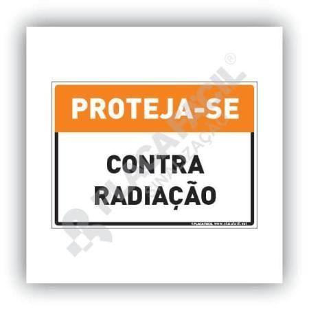 Placa De Sinalização Proteja Contra Radiação