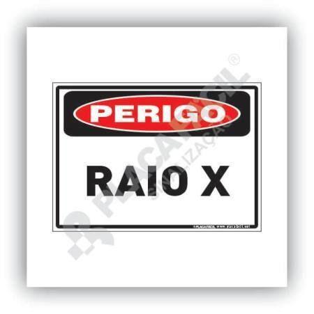 Placa De Sinalização Perigo Raio X