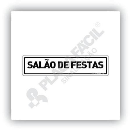 Placa De Sinalização Salão De Festas