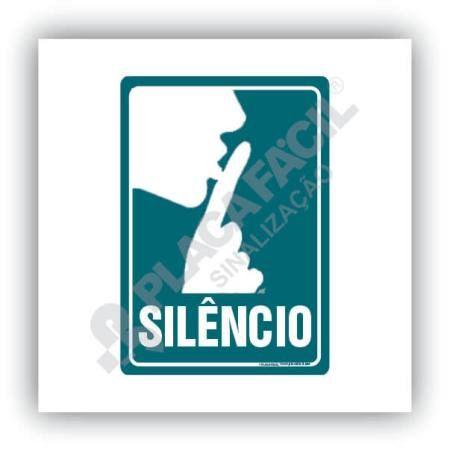 Placa De Sinalização Silêncio