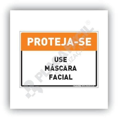 Placa De Sinalização Use Máscara Facial