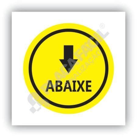 placa de sinalizacao abaixe