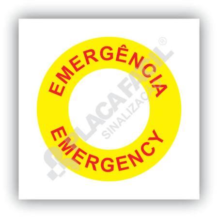 placa de sinalização emergencia