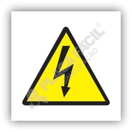 placa de sinalizacao risco de choque eletrico