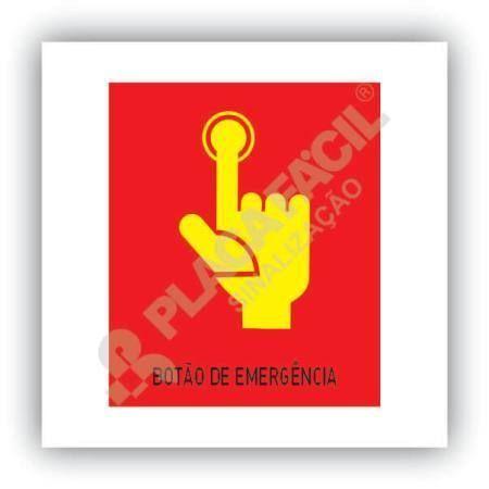 placa sinalizacao botao de emergencia