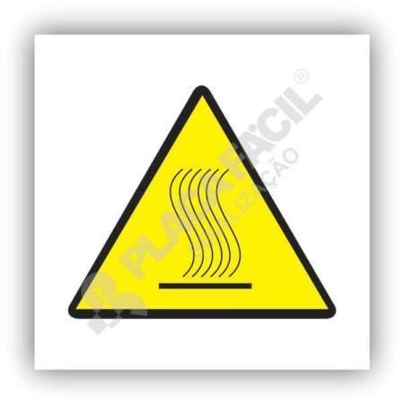 placa sinalizacao superficie quente nao toque 2