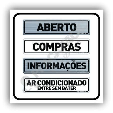 Placas para Condomínios 25x06 cm